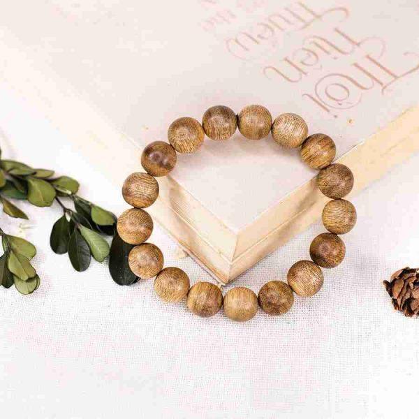 Vòng tay gỗ Trầm Hương Tròn Đơn Lào