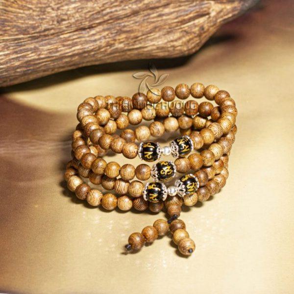 Vòng tay gỗ Trầm Hương 108 hạt Đại Minh Ngũ Ngọc