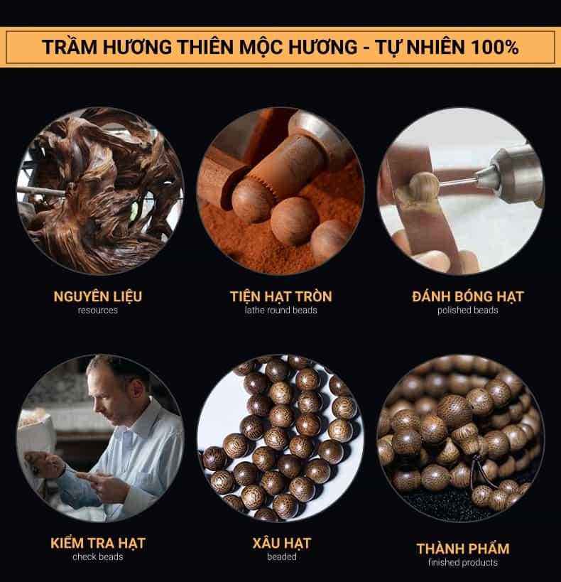 Quy trình chế tác trầm hương - Nhang trầm hương Thiên Mộc Hương
