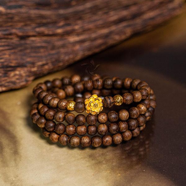 Vòng tay gỗ trầm hương Mai Vàng Phú Quý Philippines