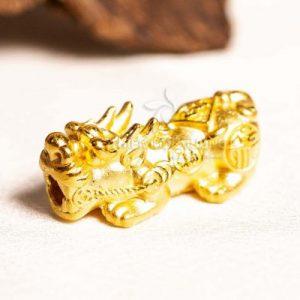 Vòng tay trầm hương Tỳ Hưu Vàng