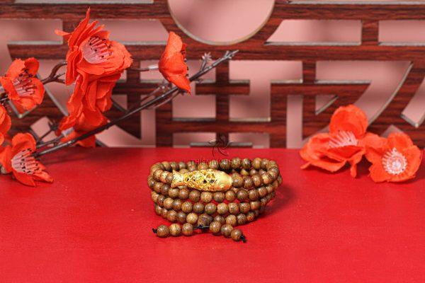 Vòng tay trầm hương 108 hạt Lý Ngư Chuyển Mình